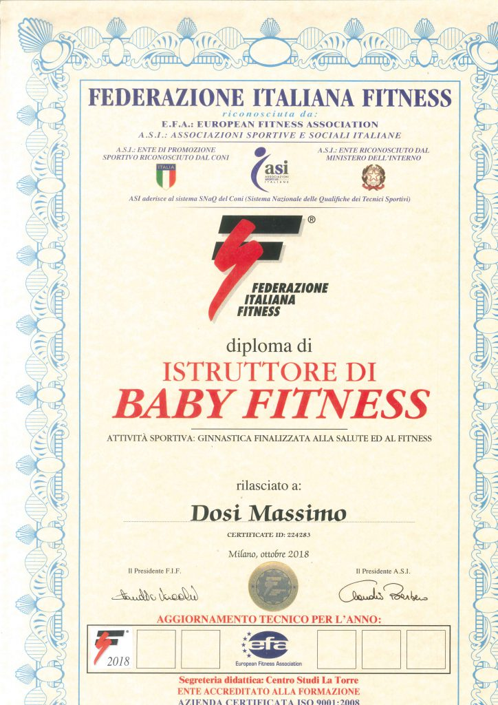Diploma FIF Baby Fitness