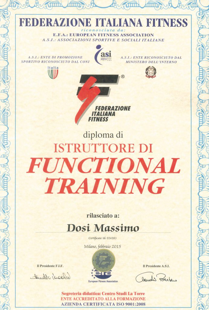 Diploma FIF Functional Training