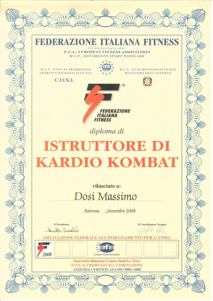 Diploma FIF Kardio Kombat